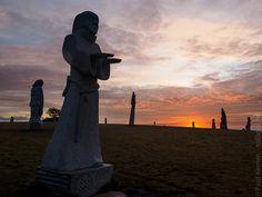 Tudeg à la Vallée des Saints à Carnoët - au lever du soleil - 14 novembre 2016 à 08H20 à 48°22