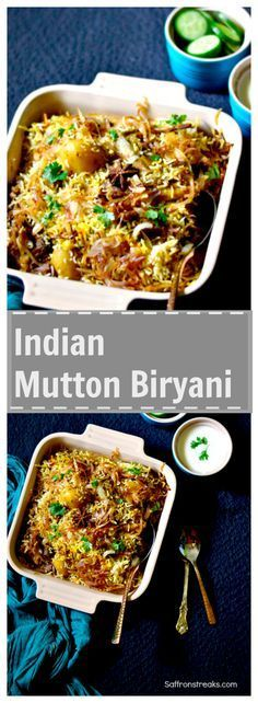 Indian (Lucknowi / Awadhi) Mutton Biryani recipe #Biryani #ricedish Succulent pieces of meat dum cooked in aromatic basmati rice