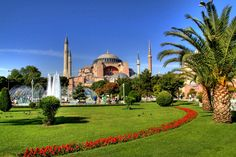 The Hagia Sophia, gardens, fountain in the foreground Bombardier Aerospace, Gulfstream Aerospace, Luxury Private Jets, Air Charter, Hagia Sophia, Istanbul Turkey, Luxury Travel, Wonders Of The World, Places To See
