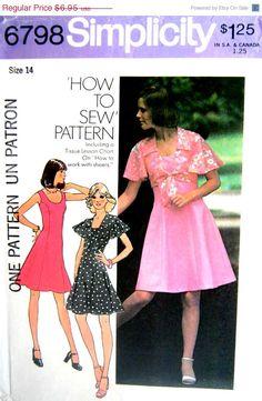 ON SALE 70s Vintage Sewing Pattern Sleeveless by stumbleupon, $5.91