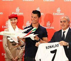 Cristiano Ronaldo, nuevo embajador global de la compañía aérea Fly Emirates