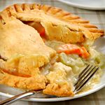 Use the Atkins recipe to make 1 recipe of Atkins Cuisine Pie Crust.  Once the dough is made, wrap it in