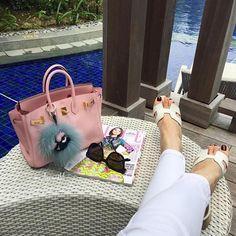 Fabulous HERMÈS Birkin and Oran Sandals & #Fendi Monster Charm from…