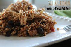 Creamy Salsa #Chicken - Freezer to Crock Pot Meal I have another Freezer to Crock pot Meal for you guys today. #crockpot