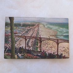 Vintage Postcard Beach From Sutro Heights San Francisco California