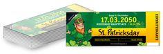 BearbeitenSie jetzt kostenlos Ihre individuelle St. Patricks Day Eintrittskarten Vorlage online. #vorlagebearbeiten #patrick #day