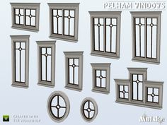 This is a set of new windows, in total 17 pieces! Next part will be more matching constuction items for the Pelham windows. You can use them with the Wicklow shutters. Make sure that your game is...