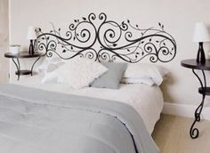 Learn how to make your own headboard! Save money and make it exactly how you want, with these great DIY headboard tutorials. Home Bedroom, Bedroom Wall, Bedroom Decor, Bedrooms, Cool Headboards, Headboard Ideas, Headboard Designs, Make Your Own Headboard, Painted Headboard
