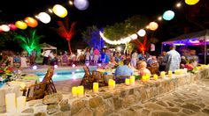 beach events at night.  Scrub Island events #BVIevents #events, #beach