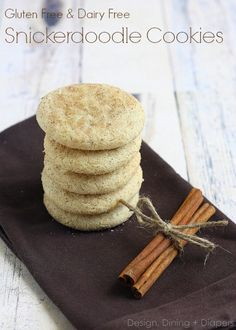 These are wonderful! Gluten Free Diary Free Snickerdoodle Recipe by DesignDiningAndDiapers.com