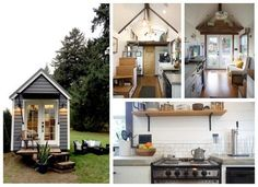 Tiny Heirloom House Timy Houses, Tiny House Big Living, Small Cottage Homes, Cottages And Bungalows, Tiny House Design, Decorating Small Spaces, House On Wheels, Small World, House Styles