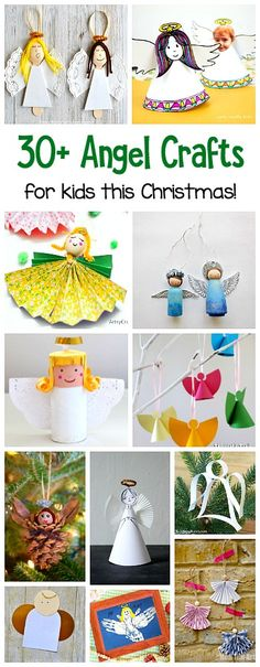 30+ Angel Crafts for Kids organized by crafting material: Paper Angel Crafts, Paper Plate Angel Crafts, Pinecone Angel Crafts, Toilet Roll Angel Crafts, Clothespin Angel Crafts, and more! Perfect for your Christmas tree or to decorate your home for the holiday! #christmascrafts #angelcrafts #christmascraftsforkids