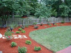 I really want red mulch going around my yard.  So nice and clean looking.