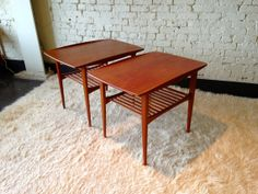 pair of Grete Jalk for France and Son end by Midcenturyville, $1200.00