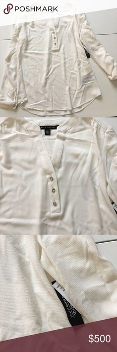 NWT Ivory Cream Sheer Chiffon Blouse Brand new with attached tags. Sheer material. Zac & Rachel Tops Blouses