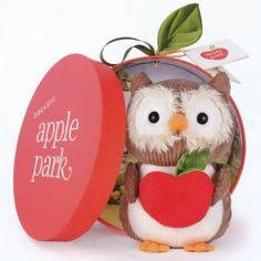 A is for Apple Park where the Picnic Pals play and the apples grow in the shape of hearts!    These naturally hypoallergenic plush toys and accessories are handmade with love and eco-friendly materials including 100% organic cotton, natural silk, and sustainable corn, soy, and hemp. They are free from toxins and harmful chemicals.     Apple Park products are good for our health, our environment, our children, and our future!