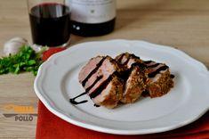 Filetto di maiale in crosta alle erbe con riduzione al vino rosso