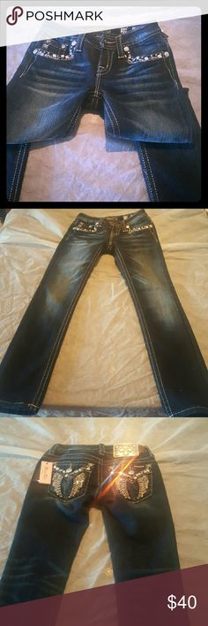 Girls jeans Missme indigo skinny jeans Miss Me Bottoms Jeans