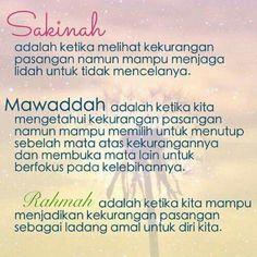 SAKINAH, MAWADDAH AND RAHMAH