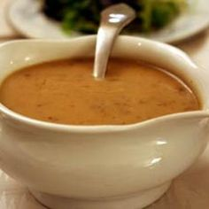 Here are two basic ways of making gravy from roast drippings, one using corn starch, the other using flour. In each case, you start with the roast drippings.