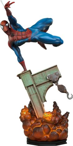"The Amazing Spider-Man Premium Format™ Figure ®... #{T.R.L.} Product Details Expected to Ship Jun 2016 - Jul 2016 License Marvel Scale Premium Format™ Figure Manufacturer Sideshow Collectibles Product Size 25.25"" H (641.35mm) x 13"" W (330.2mm) x 10"" L (254mm)* Tabletop View » Product Weight 20.00 lbs (9.07 kg)* Dimensional Weight TBD Int'l Dim. Weight TBD Product Sku 3002011 UPC 747720223769"