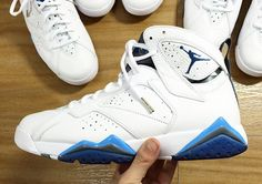 """The Air Jordan 7 """"French Blue"""" will release on January 25th, 2015. But are you ready to for the price hike on the Remastered Jordans? This detailed look at the Air Jordan 7 """"French Blue"""", which is set to release during the first month of the new year, tells us that the added cost might [&hellip"""