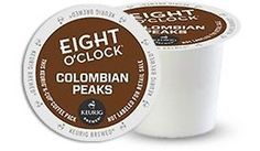 Eight O'Clock 100% Colombian Coffee Keurig K-Cups 96-Count