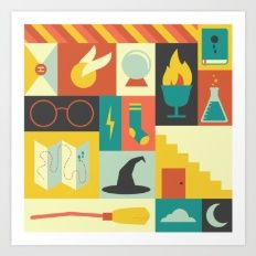 Art Print featuring King's Cross - Harry Potter by Ariel Wilson Society 6