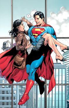 Superman & Lois Lane. I love her NERVOUS he looks here!! :D