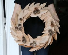 DIY Recycled Paper : DIY Make This Inviting Fall Wreath from Recycled Grocery Bags
