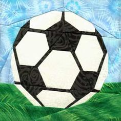 soccerball paperpiece free pattern