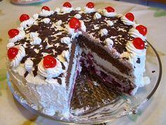 Tarta Selva Negra. Te enseñamos a cocinar recetas fáciles cómo la receta de Tarta Selva Negra. y muchas otras recetas de cocina..