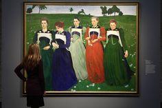 """Blick in die Ausstellung """"Ferdinand Hodler und Cuno Amiet. Eine Künstlerfreundschaft"""