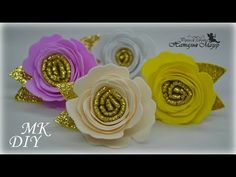 Diy Hair Bows, Diy Hairstyles, Projects To Try, Flowers, Head Bands, Feltro, Craft, Painted Vases, Felt Flowers