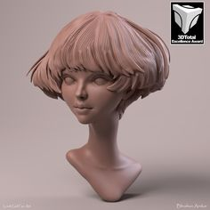 Loish Girl Clay Render, Bhushan Arekar on ArtStation at https://www.artstation.com/artwork/2Bvqv