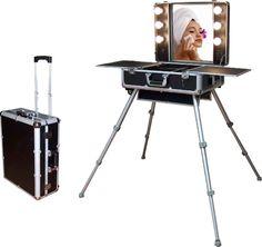 Trolley Tocador de maquillaje portátil - cromozona