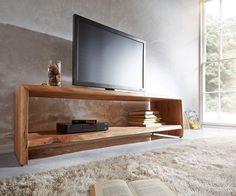 Fernsehtisch Live-Edge Akazie Natur 165x47 mit Fach Baumkante Lowboard in Möbel & Wohnen, Möbel, TV- & HiFi-Tische | eBay