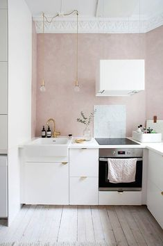 Small feminine kitchen interior decoration