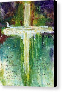 Guardian Angel Prayer Canvas Print / Canvas Art by Michel Keck