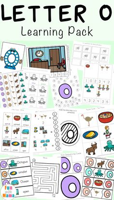 Free printable letter O activities, worksheets, crafts and learning pack. via @funwithmama