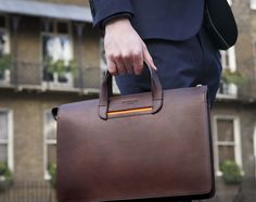 Leather Briefcase Vallance By Oppermann London