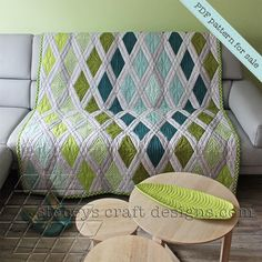 Yeah, I have a new quilt pattern out now to create this fresh Diamond Sea...