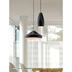 Add a touch of contemporary style and class with this ceramic Tropical one-light ceiling lamp in a stunning black shade. The unique shape and simple lines of this fixture can be used in any room of your home to create warm light and visual interest.