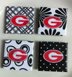 Georgia Bulldog Magnets sold separately by Jewlsbasement on Etsy, $3.00
