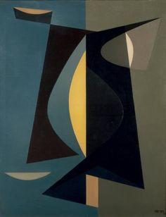 JEAN RETS (1910-1998)  Composition, 1958 Huile sur toile Signée et datée en bas à droite Olieverf op doek Getekend en gedateerd rechts onderaan 90 x 69 cm