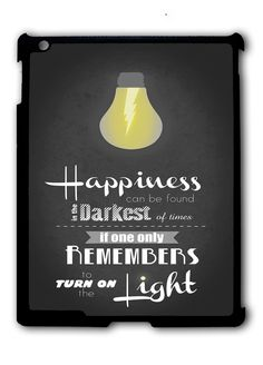 Harry Potter Happiness Quote iPad 2 3 4, iPad Mini 1 2 3 , iPad Air 1 2