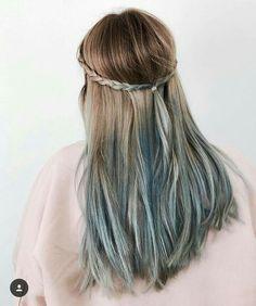 #hair #bluehair #blue #ombré #loreal #spray #colorista