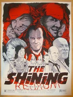 "2012 ""The Shining"" - Silkscreen Movie Poster by Joshua Budich"
