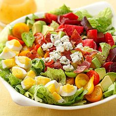 Cobb Salad From Better Homes and Gardens, ideas and improvement projects for your home and garden plus recipes and entertaining ideas.