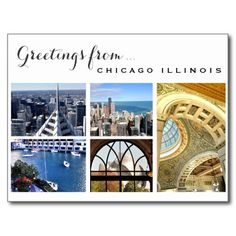 Greetings from Chicago Postcard #OHC2015 | Perfect Postage ♥ Repinned by Annie @ www.perfectpostage.com